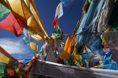 Tibet-Fahne Stockfotografie