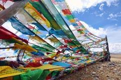 Tibet-Fahnen Stockbild
