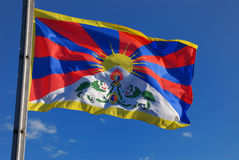 Tibet flag Stock Image