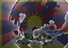 Tibet flag Stock Images