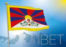 Tibet flag Stock Image