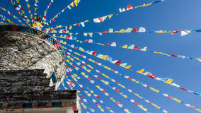 Tibet flags Royalty Free Stock Photography