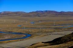 Tibet flod Arkivfoton