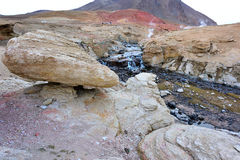 Tibet flod Hot Springs Royaltyfria Bilder