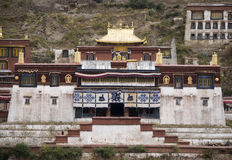 Tibet - Ganden Namgyeling Monastery Royalty Free Stock Photo
