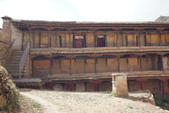 Tibet-Gebäude in Sera Monastry lizenzfreie stockfotografie