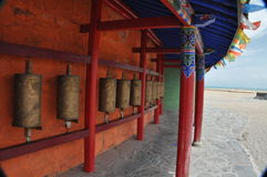 Tibet gerencie os tambores Foto de Stock