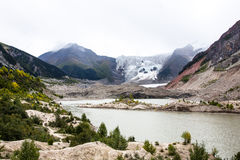 Tibet glacier pictures. Tibet glacier dissolved together into a river Royalty Free Stock Photos