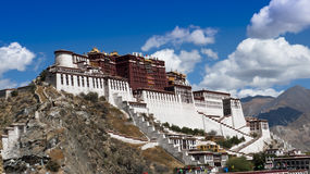 Tibet-Grenzstein stockfotografie