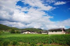 Tibet-Häuser Lizenzfreies Stockfoto