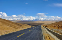 Tibet highway Stock Photos