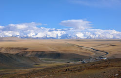 Tibet highway Stock Photography