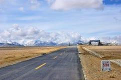 Tibet highway Stock Photos