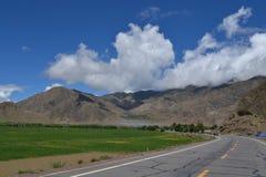 Tibet himmel Arkivfoton