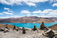 Tibet holy yamdrok lake Stock Images