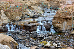 Tibet Hot Springs Arkivbilder