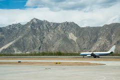 Tibet International airport royalty free stock photography