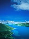 tibet jeziorny yamdrok Obraz Royalty Free