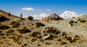 Tibet Kora runt om Mount Kailash Arkivbild