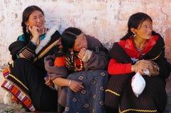 tibet kvinnor royaltyfria bilder