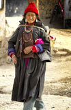 Tibet Lady in Ladakh Royalty Free Stock Photography