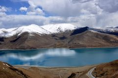 Tibet lake Stock Photo