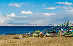 Tibet. Lake Mansarovar. Royalty Free Stock Image