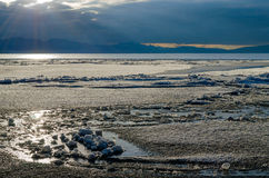 Tibet. Lake Mansarovar. Stock Images