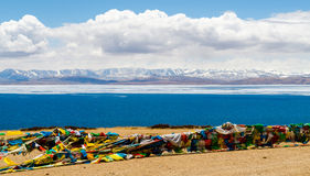 Tibet. Lake Mansarovar. Royalty Free Stock Images