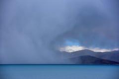 Tibet Lake Phumayumtso dark clouds Stock Photos