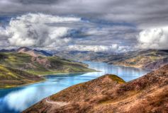 Tibet lake Stock Photography