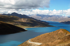 Tibet Lake Yamdrok(Yamtso) Stock Photos
