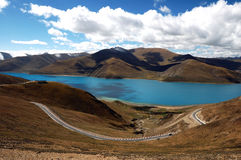 Tibet Lake Yamdrok(Yamtso) Royalty Free Stock Photo