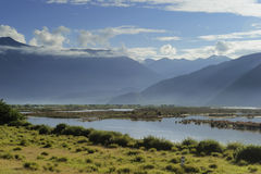 Tibet landscape, in Milin-11. NiYang river landscape, photo by yuziyuan Royalty Free Stock Image