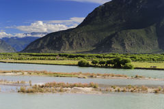 Tibet landscape, in Milin-14. NiYang river landscape, photo by yuziyuan Royalty Free Stock Photography
