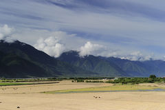 Tibet landscape, in Milin-15 Stock Photo