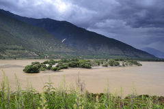 Tibet landscape, in Milin-17. NiYang river landscape, photo by yuziyuan Stock Photos