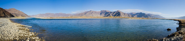 Tibet landscape panorama Royalty Free Stock Photo