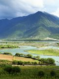 Tibet landscape Royalty Free Stock Photo