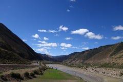 Tibet-Landschaft Stockbild