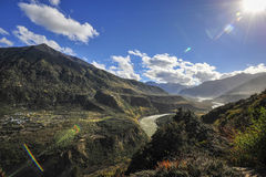 Tibet landskap Arkivbilder