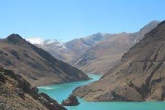 Tibet - landskap Arkivfoton