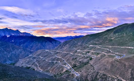 Tibet landskap royaltyfria bilder