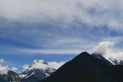 Tibet landskap-snö berg Royaltyfri Fotografi