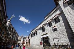 Tibet Lhasa barkhor Arkivfoto
