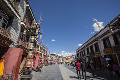 Tibet Lhasa barkhor Arkivbilder