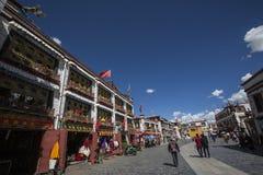 Tibet Lhasa barkhor Arkivbild