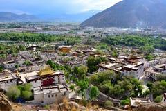 Tibet Lhasa serumkloster Arkivbilder