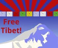 Tibet livre! Imagens de Stock