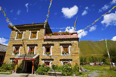 Tibet local-style dwelling houses Royalty Free Stock Photography